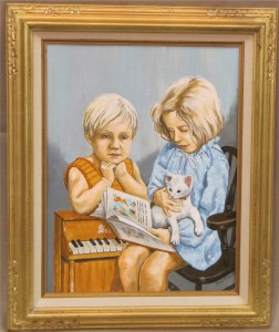 1980_Reading_Together_painting