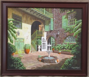 2005_Brulatour_Courtyard_New_Orleans_painting