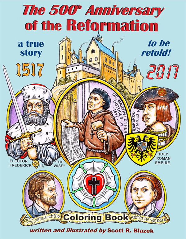 The 500th Anniversary of the Reformation coloring book is now available!  Click the image for more information and ordering details.