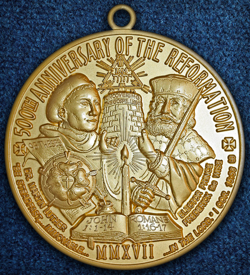 500th Anniversary of the Reformation (obverse, matte gold), 2017