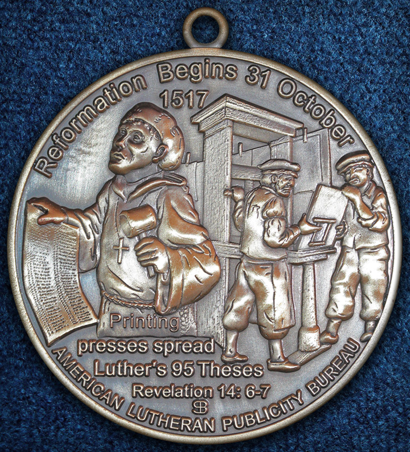 500th Anniversary of the Reformation (reverse, bronze), 2017